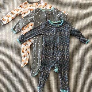 Zip Up Baby Pajamas